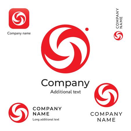 Swirl creative icon modern and stylish beauty identity brand symbol icon. Business concept set template vector illustration.  イラスト・ベクター素材