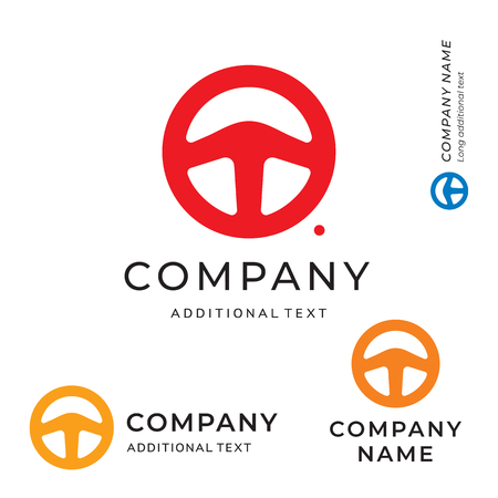Steering Wheel Shape Logo for Brand and App Icon