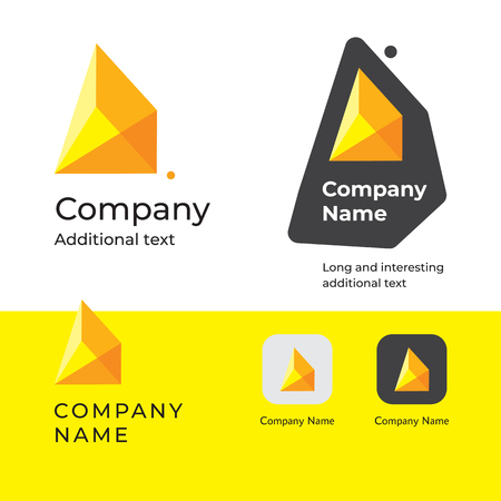 Isometric abstract modern icon design and construction business identity brand app icon. Symbol concept set template vector illustration.