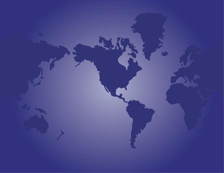 terra: Map of the world - illustration