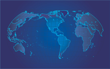 global links: Map of the world - vector illustration