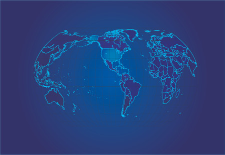 Map of the world - vector illustration Stock Vector - 571139