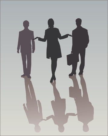 Business Woman with her team Stock Vector - 571141