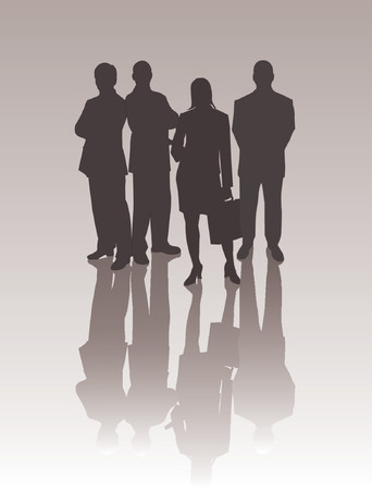 Business Team - vector silhouettes illustration Stock Vector - 571124