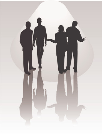 Business Team - vector silhouettes illustration Stock Vector - 571125