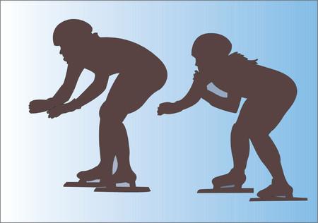 rollerskater:  Speed skating Illustration