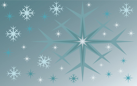 winterly: Winterly background - vector