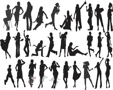 Beautyfull Girls - Silhouette  Illustration