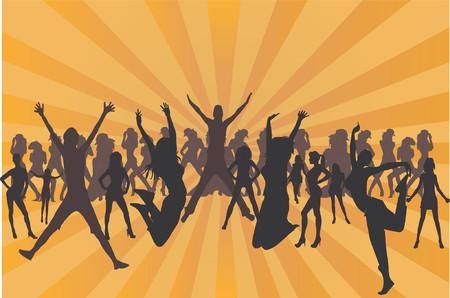 Women silhouettes vector illustration Stock Vector - 619902