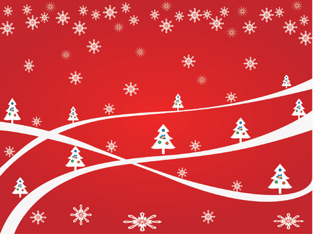 Christmas  background -  vector illustration