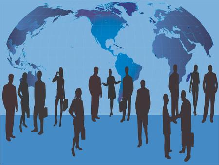 Business People - vector silhouette illustration Illustration
