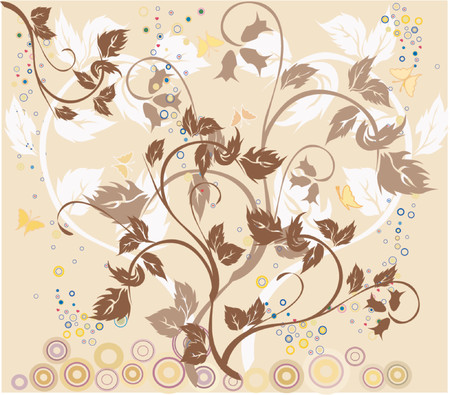 Floral Background - vector Stock Vector - 854293