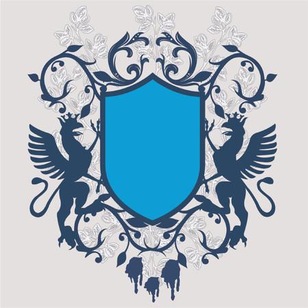 sentiment: Armory vintage emblem - vector