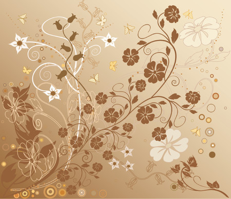 Floral Background - vector Stock Vector - 879061