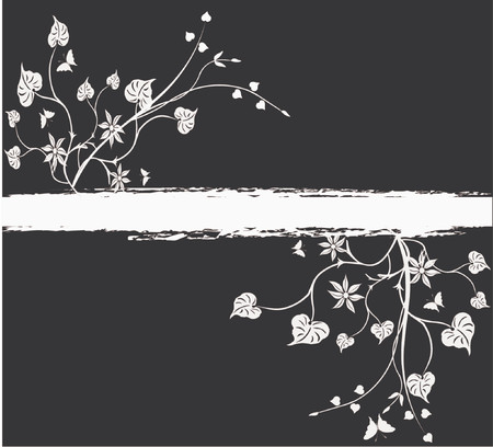 nights: Floral Background - vector