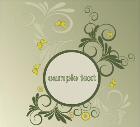 Floral backgrownd - vector illustration Stock Vector - 922232