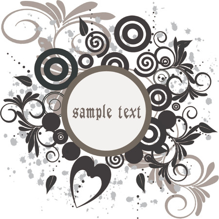 Floral Background with frame - vector illustration Stock Vector - 937113