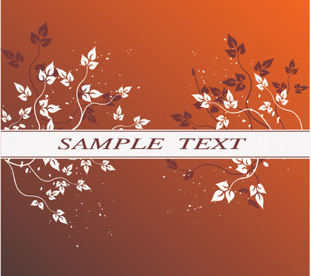 Floral Background with frame - vector illustration Stock Vector - 937114