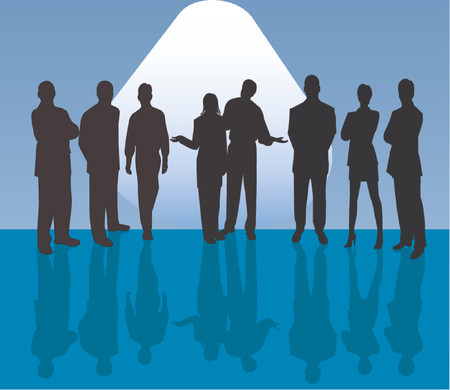 Business Team - vector silhouettes illustration Vector