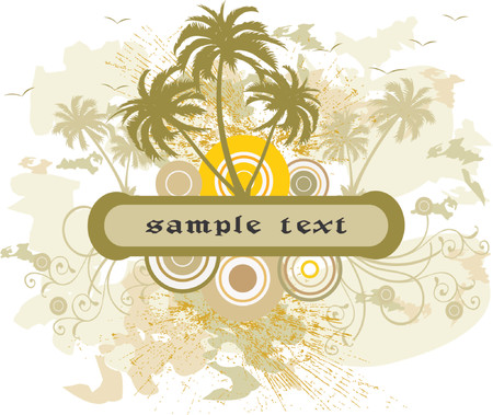 Floral Background with frame - vector Stock Vector - 1200746