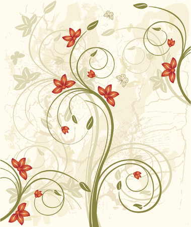 Abstract  floral background  - vector Stock Vector - 1326274