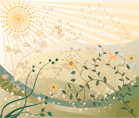 Abstract floral background vector illustration Vector