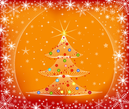 Christmas tree - vector Vector