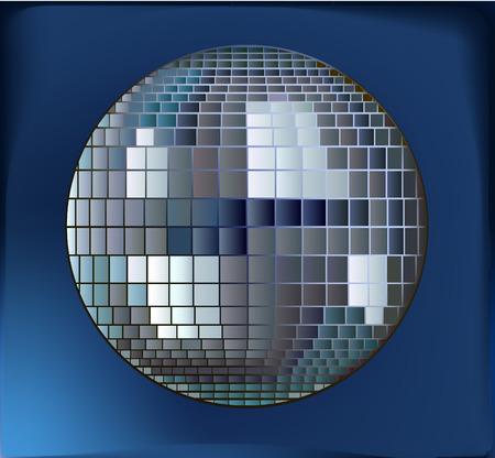 dancefloor: Vector disco ball Illustration
