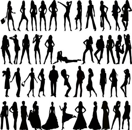 Fashion people - vector
