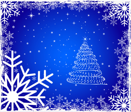 Abstract  artistic winter background - vector Stock Vector - 1696117