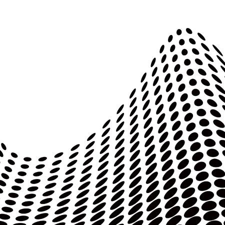 distort: Resumen de ondas medias en blanco y negro - vector