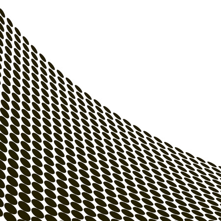 distort: Abstract halftone wave in black and white - vector Illustration