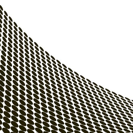 distort: Resumen de ondas medias en blanco y negro - de vectores  Vectores