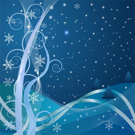 christmas winter vector illustration Stock Vector - 1874530