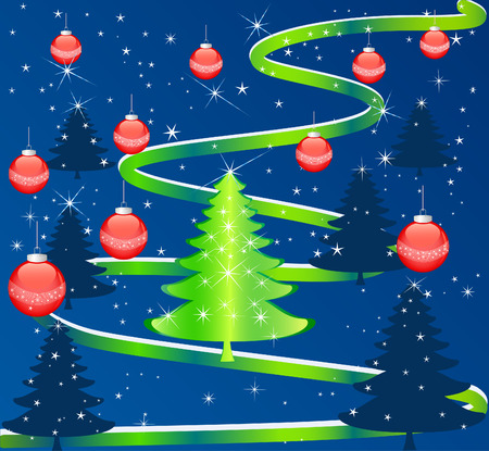 seasonable: christmas winter vector illustration Illustration