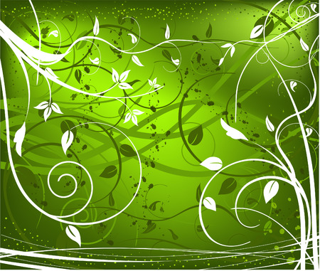 Abstract  artistic  floral background - vector  Illustration