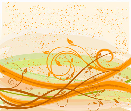 Abstract   floral background - vector Vector