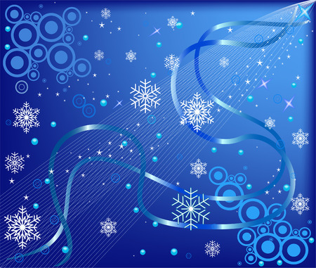 Abstract   blue  background - vector Stock Vector - 1961202