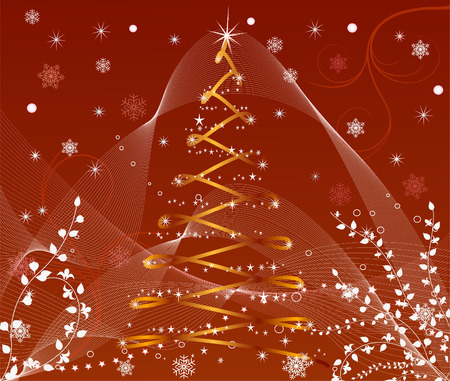 Abstract   Christmas background - vector Stock Vector - 1961200