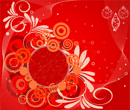 Abstract  artistic floral  background illustration Vector