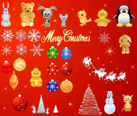 Christmas design elements, vector Vector