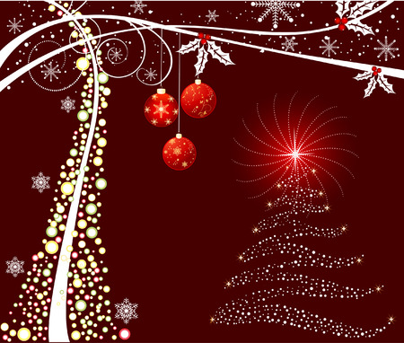 ration: Christmas abstract background, vector Illustration