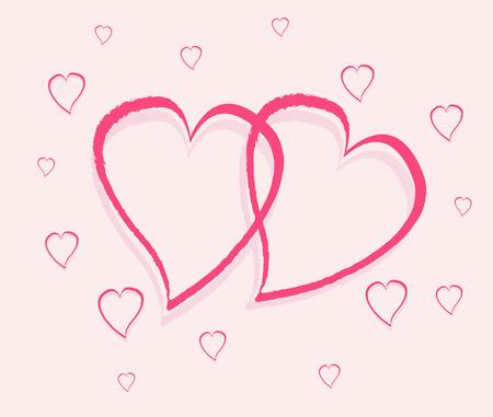 Romantic background vector illustration Vector