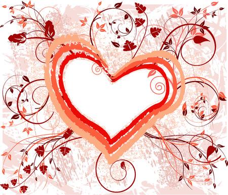 Romantic background vector illustration Stock Vector - 2246113