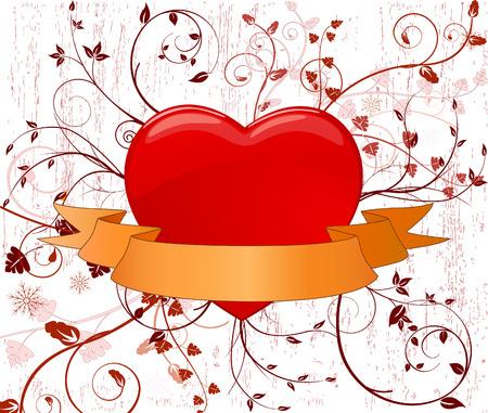 Romantic background vector illustration Illustration