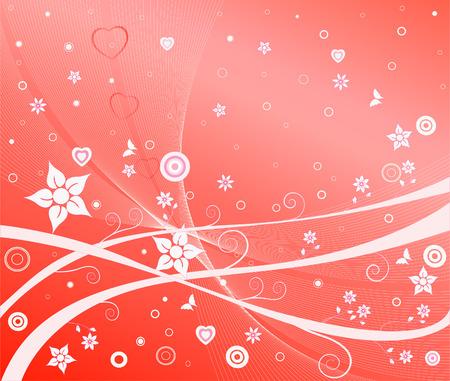 simplicity: Romantic background vector illustration Illustration