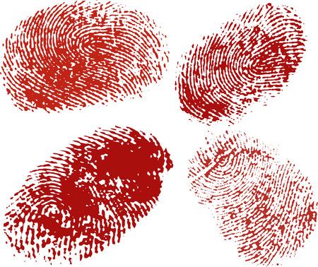 Vector finger print in red Vector