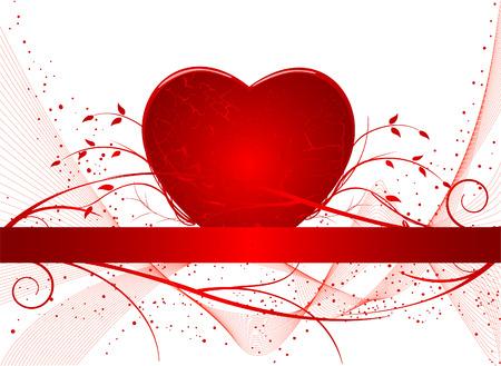 Romantic artistic background vector Stock Vector - 2319204