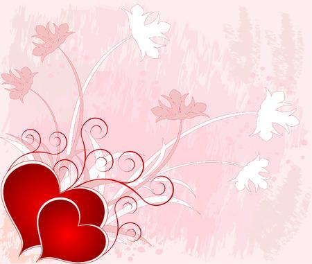 Romantic background vector design decor artistic illustration Vector