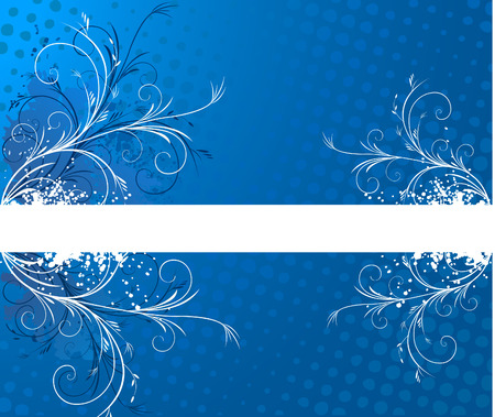 Blue background with frame for text Illustration